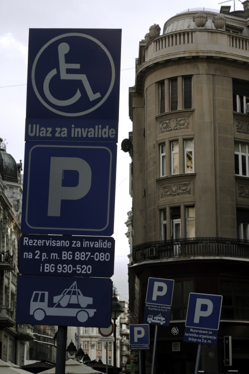 Wayfinding and Typographic Signs - drunken-parking-signs