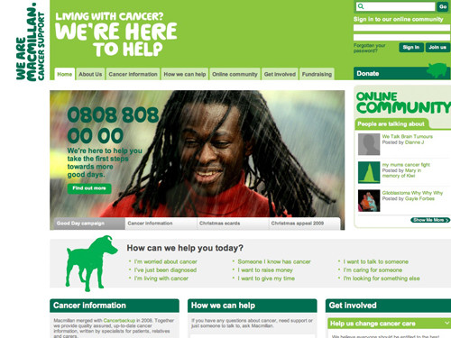 Macmillan website home page