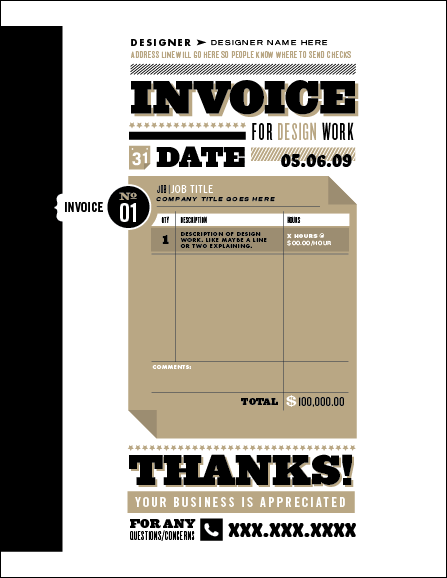 Invoice Like A Pro Design Examples And Best Practices Smashing - Design invoice template