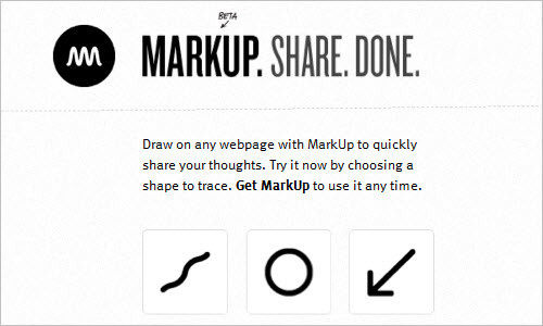 Draw on any webpage. Share your ideas. - MarkUp