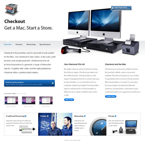 Showcase of Unusual Layouts - Checkout: Point of Sale for Mac (POS)