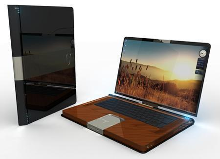 Laptop Designs - Tablet PC Made Of Wood