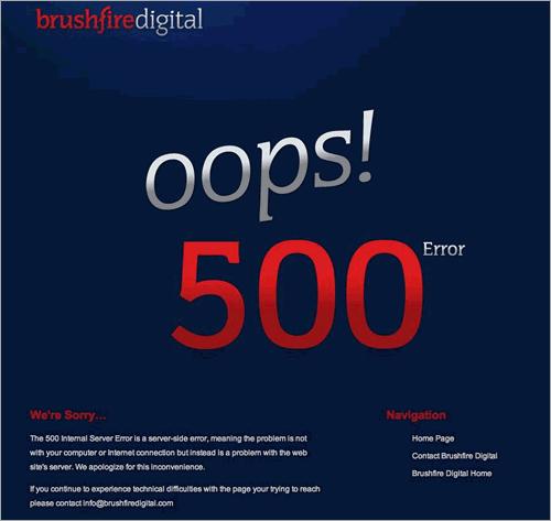 Brushfire 500 Error