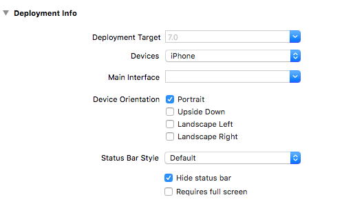 Final deployment info settings.