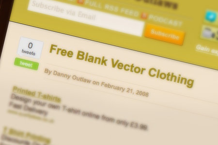 Free Blank Vector Clothing