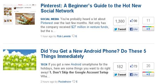 Social Media Sharing Buttons Example