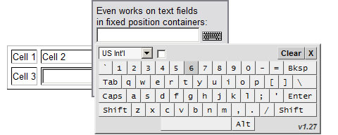 JavaScript Graphical / Virtual Keyboard Interface