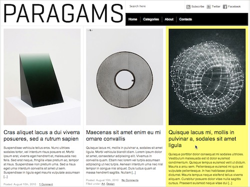 Paragrams Free WP Theme