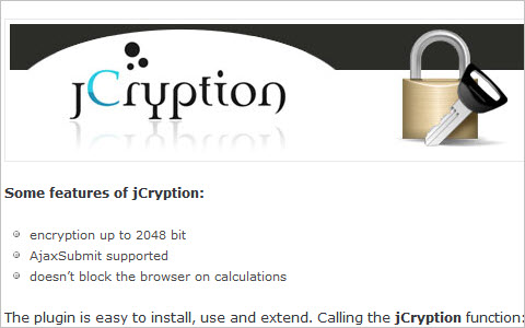 Data Encryption With JavaScript: jCryption