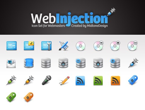 Free Icons Round-Up - Free Icon Pack: Web Injection
