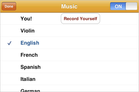 "The ""Wheels on the bus"" iphone and ipad app allows users to listen to the song in several languages"