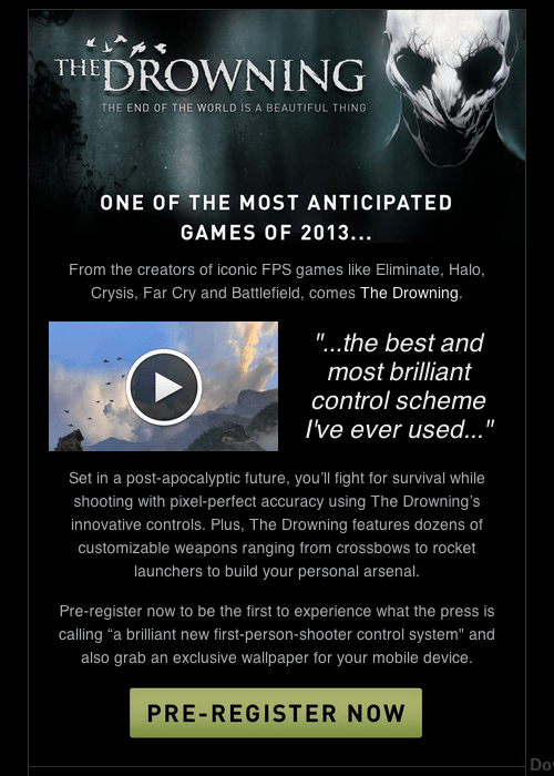 Teaser email: The Drowning