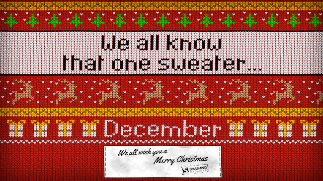 Christmas Wallpaper — We All Know That One Sweater