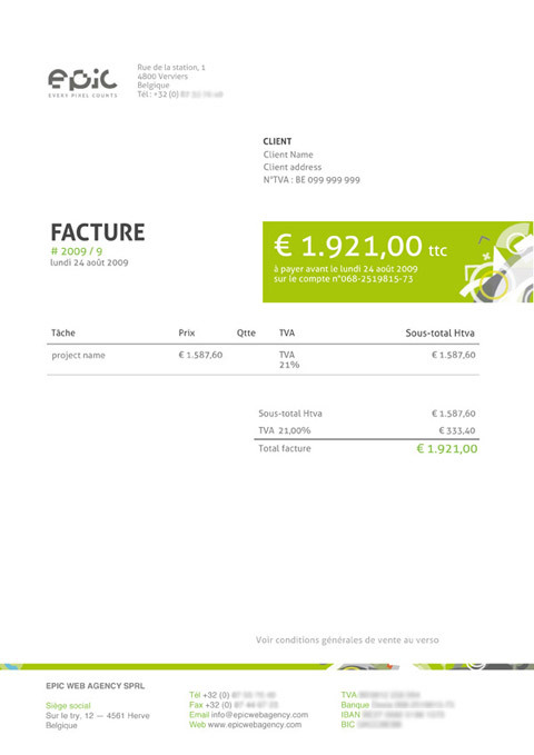 good invoice template  Invoice Like A Pro: Design Examples and Best Practices — Smashing ...