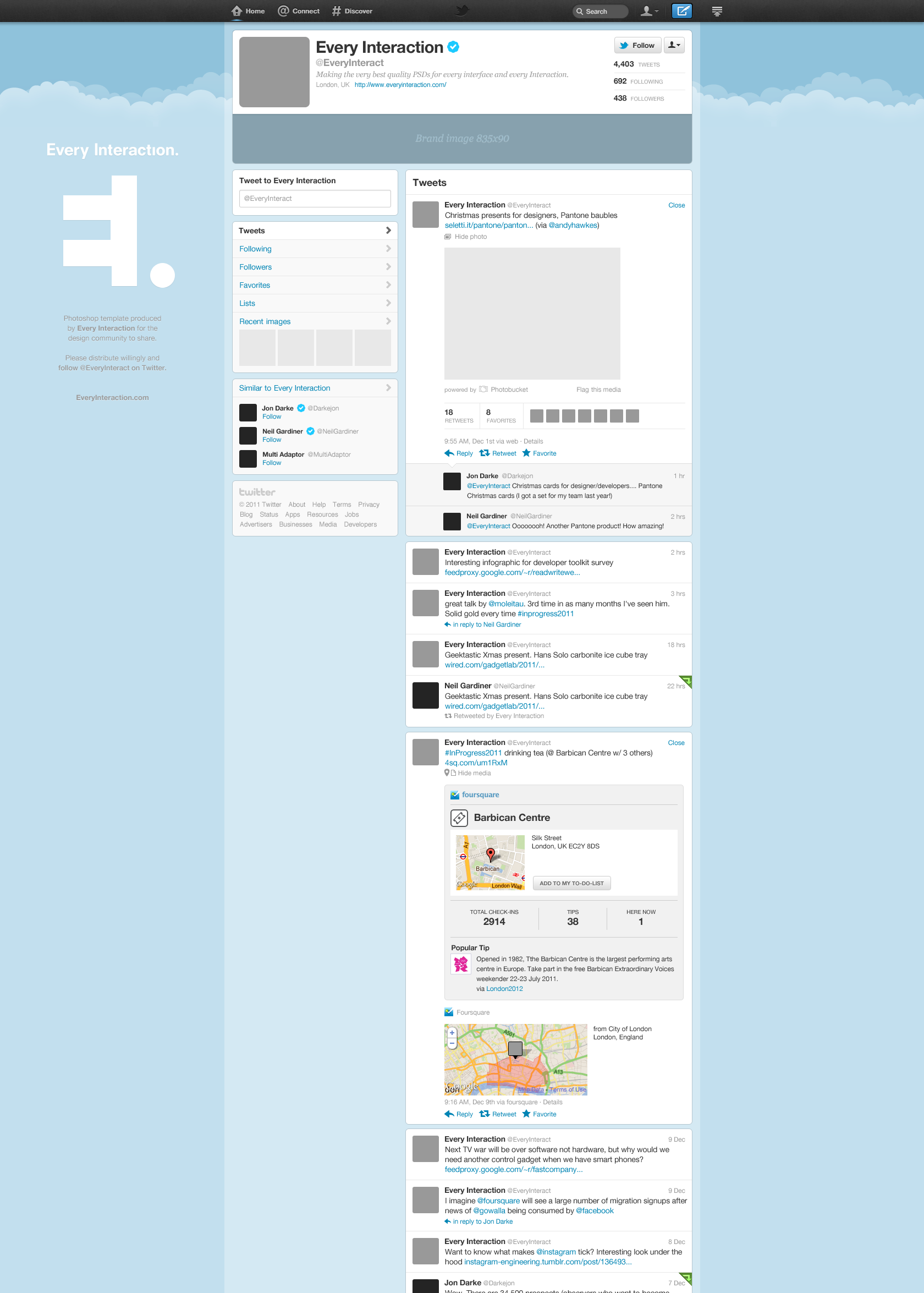 Free new twitter profile page gui psd smashing magazine large preview enhanced profile g pronofoot35fo Image collections