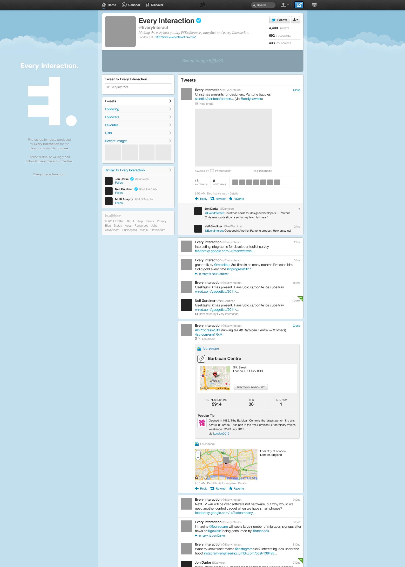 Free New Twitter Profile Page GUI PSD — Smashing Magazine