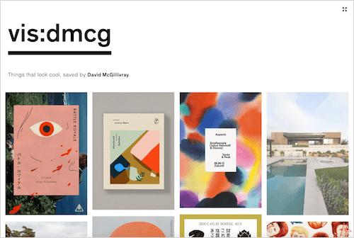 Screenshot from the vis:dmcg site