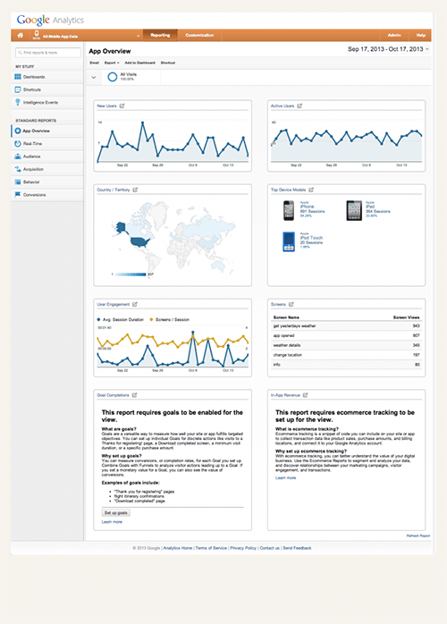 Analytics App Overview