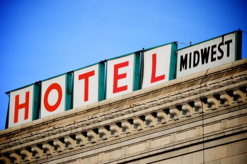 Wayfinding and Typographic Signs - hotel