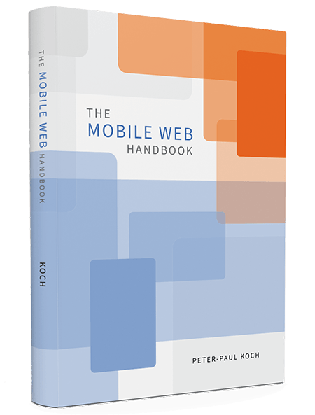 Mobile Web Handbook, a new Smashing Book by Peter-Paul Koch