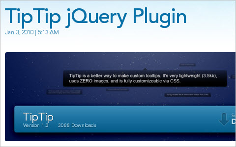 TipTip jQuery Plugin