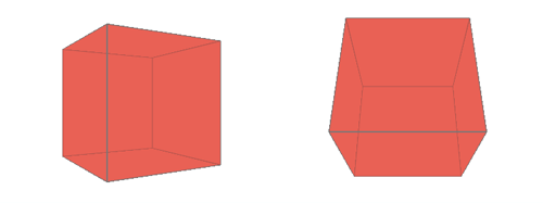 Rotated cube