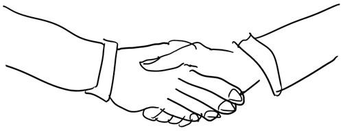 The handshake of death