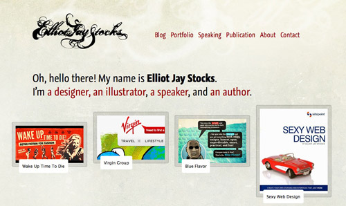 Screenshot of Elliot Jay Stocks website