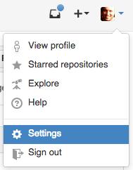 GitHub settings panel