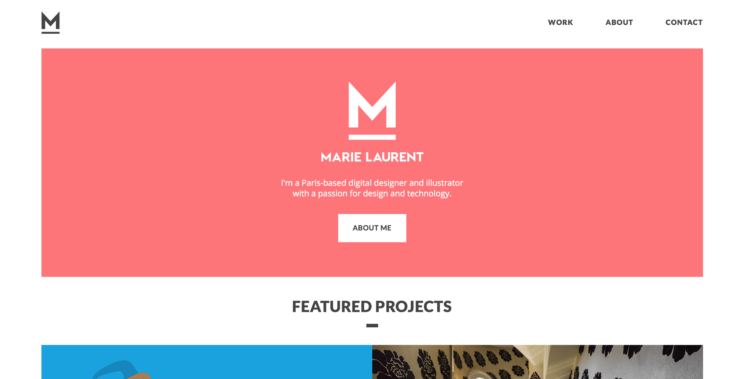 The Portfolio Of Marie Laurent Is A Typical Example What Many Designers Would Call Minimalist Website