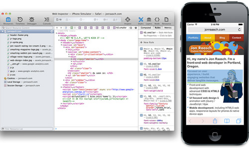 You don't need a physical iOS device to use remote debugging. You can also debug instances of the iOS Simulator.