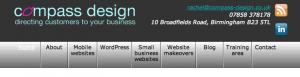 Compass Design - site on iPad after menu tweaks