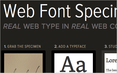 Useful Typography Resources - Web Font Specimen