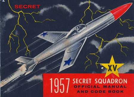 Vintage and Retro - 1957 Secret Squadron Official Manual - cover