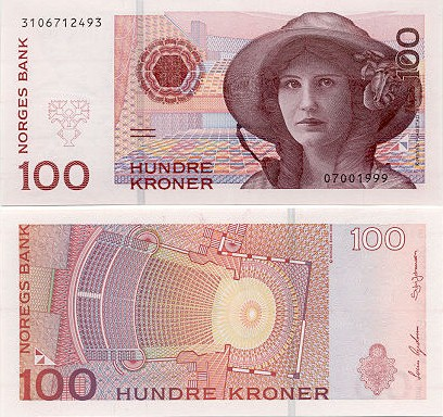 Current Norwegian krone design
