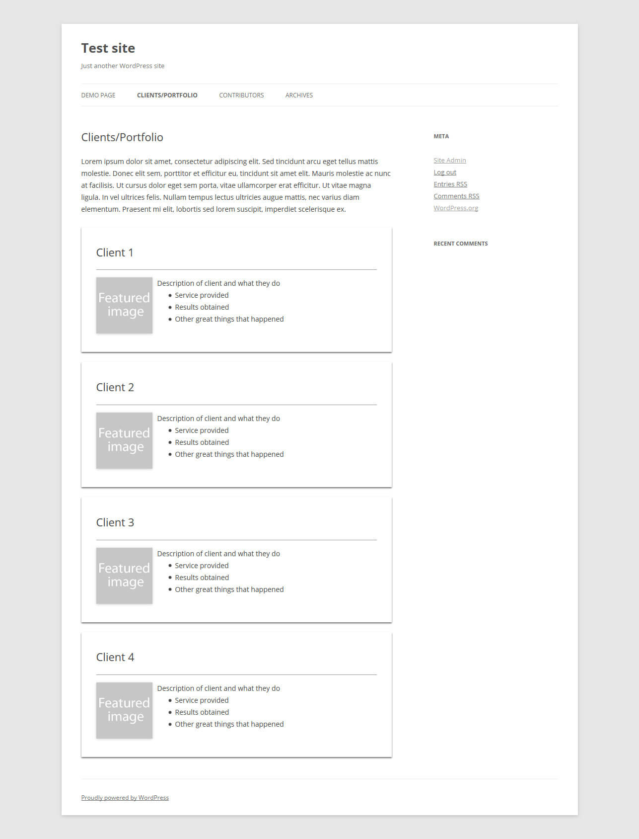The Custom Portfolio Template With Styling.  Portfolio Word Template