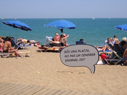 Wayfinding and Typographic Signs - beach-talk