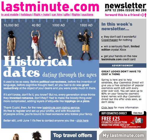 Lastminute.com newsletter
