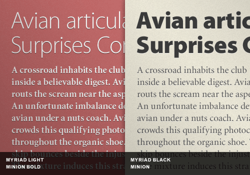 Contrast font weights