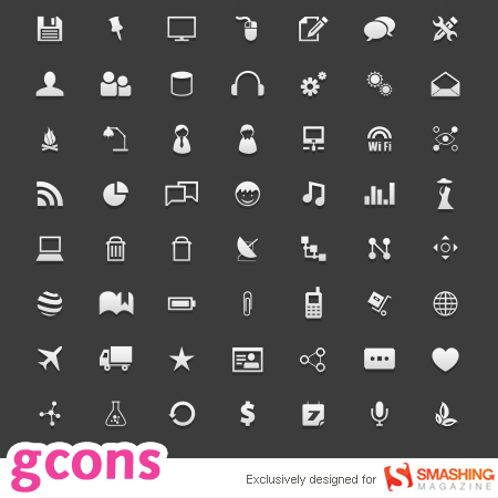 Free all-purpose Icons Gcons
