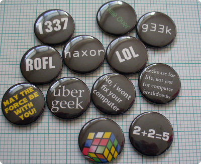 Pins, Badges and Buttons - My buttons available @ Prickie