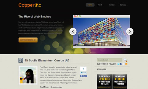 Copperific Free WP Theme