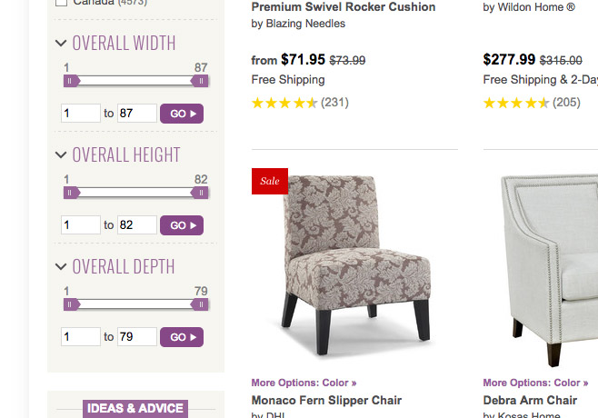 Wayfair slider