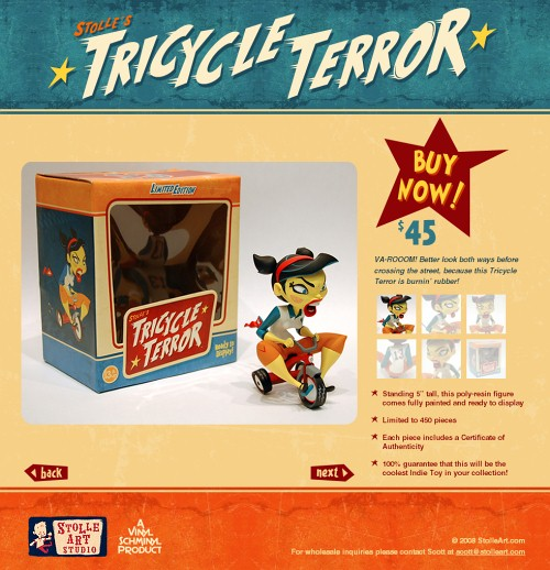Retro and Vintage Designs - Tricycle Terror