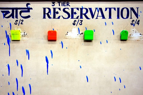 Wayfinding and Typographic Signs - indian-railway-reservation-chart-table