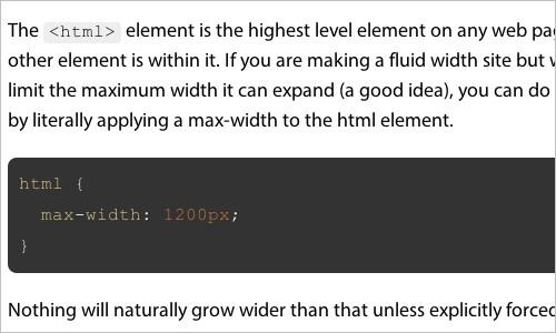 Rein In Fluid Width By Limiting HTML Width