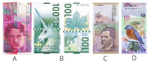 Swiss Franc Banknote Design Concepts