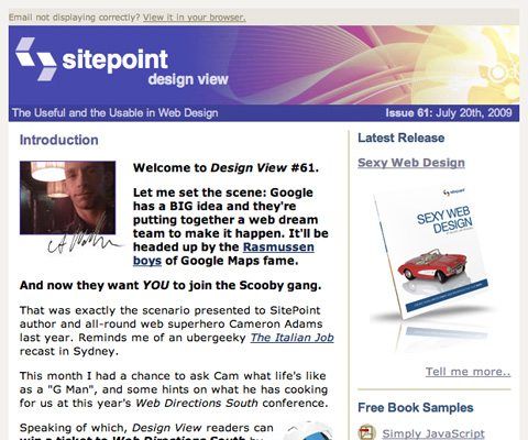 SitePoint Design View