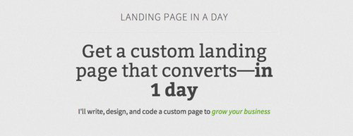 Landing Page in a Day by Jarrod Drysdale.