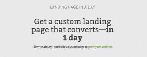 Landing Page in a Day by Jarrod Drysdale.